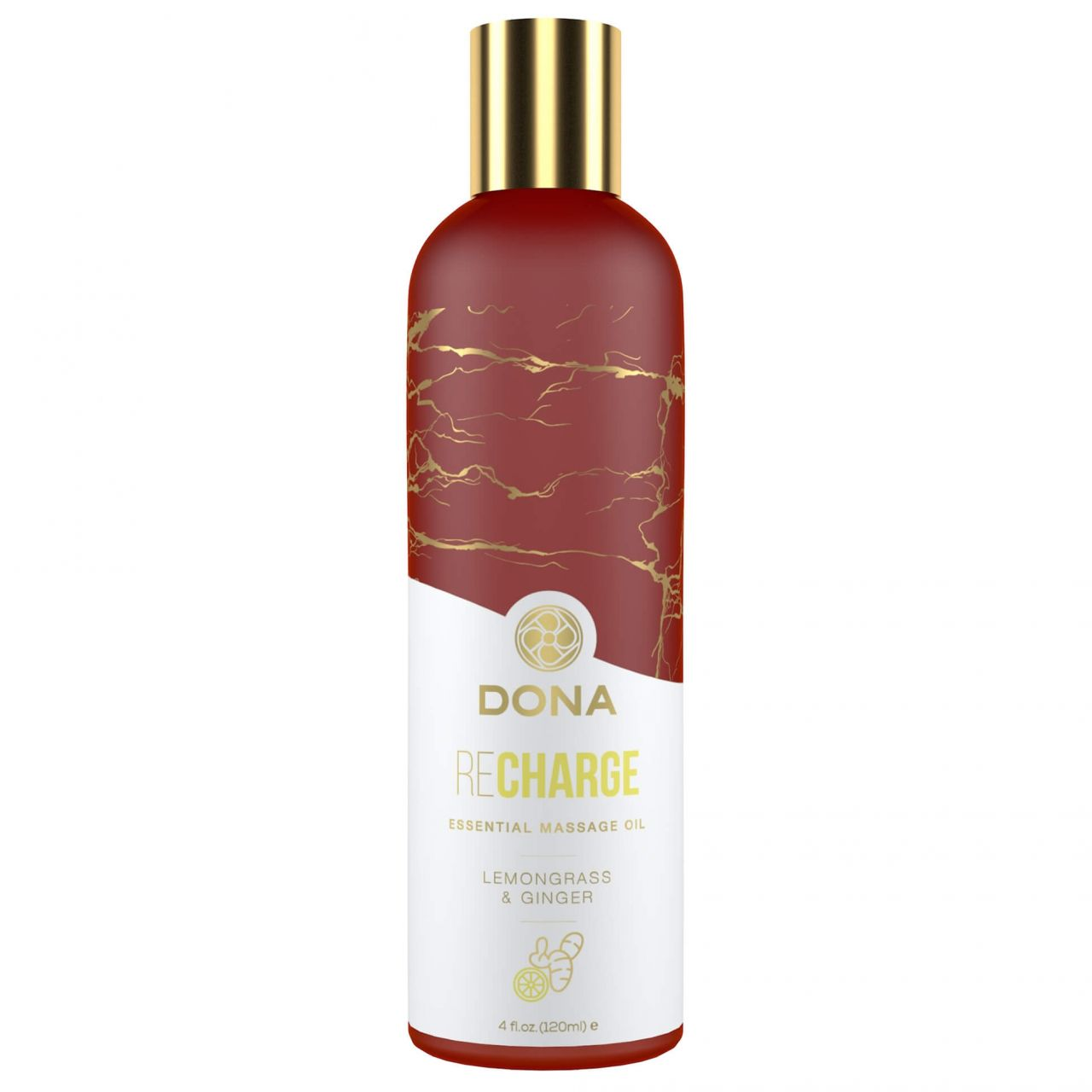 Dona Recharge - vegán masszázsolaj (citromfű-gyömbér) - 120ml